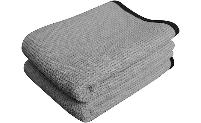 At 28 inches by 40 inches, the Gryeer Extra Large Microfiber Waffle Weave Drying Towel is one of the biggest microfiber car towels on the consumer market.