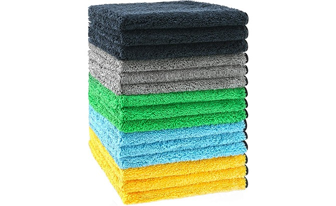 The HERKKA Microfiber Cleaning Cloths are plush, premium microfiber cloths that will do a great job as car towels at a reasonable price.