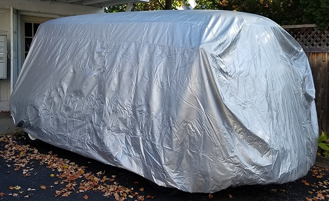 The CarCovers.com Platinum Shield Van Cover is the company's top-rated option, giving you top level protection against the elements, from rain to snow, wind, UV rays, sunlight, heat, and anything else the environment can throw at you.