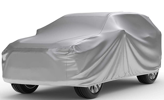 If you must park outdoors, the Weatherproof SUV Cover is a good choice for protection from the elements.