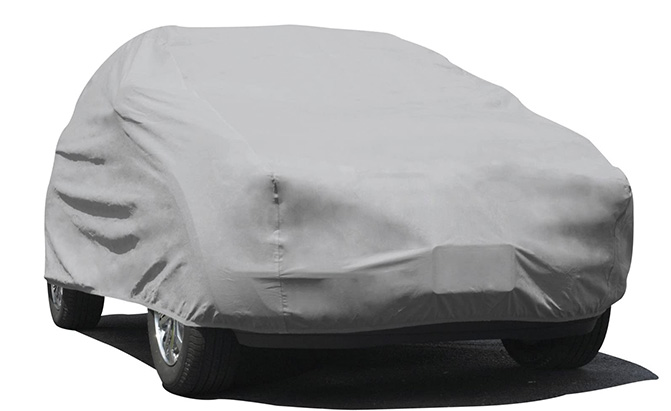 Using three layers of spun-bound polypropylene with a water-resistant inner film, the Budge Rain Barrier SUV cover can protect your SUV's finish all year long.