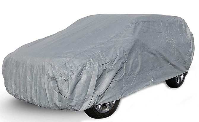 The CarCovers Weatherproof Van Cover can be ordered in size and fit to match a multitude of vans and minivans.