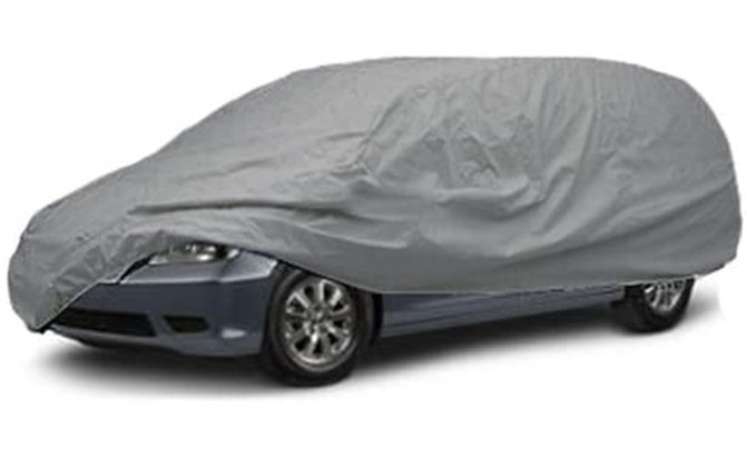 The SBU All Weather Mini Van Cover provided year-round protection by shielding your van for sun, rain, snow, dust, dirt and other pollutants that can harm your finish.