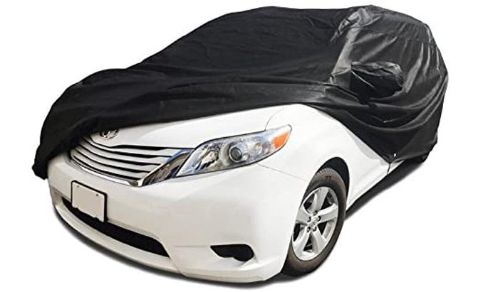 This Xtrashield Custom Fit Black Minivan Cover is probably better suited for indoor use than outdoor, considering it consists of only two layers.