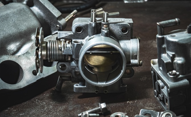 A closer look at a throttle body