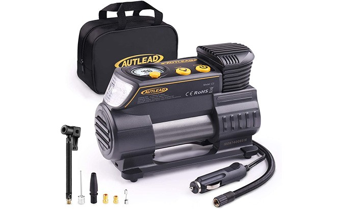 autlead portable air compressor/tire inflator