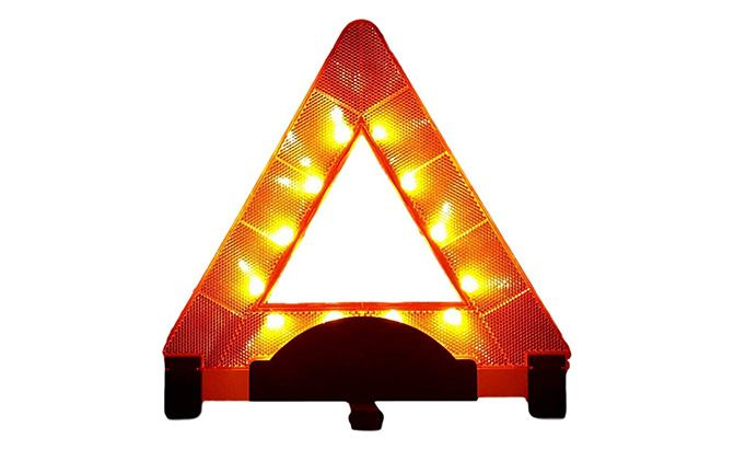 lumen wand reflective orange triangle