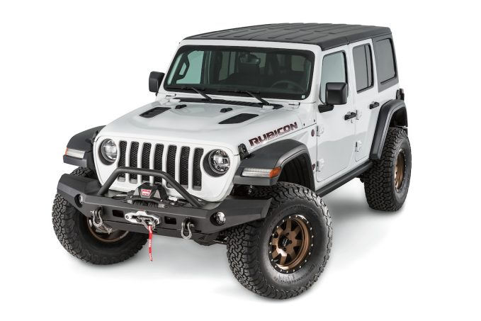 Jeep JL WARN Elite Series full Bumper with grille guard
