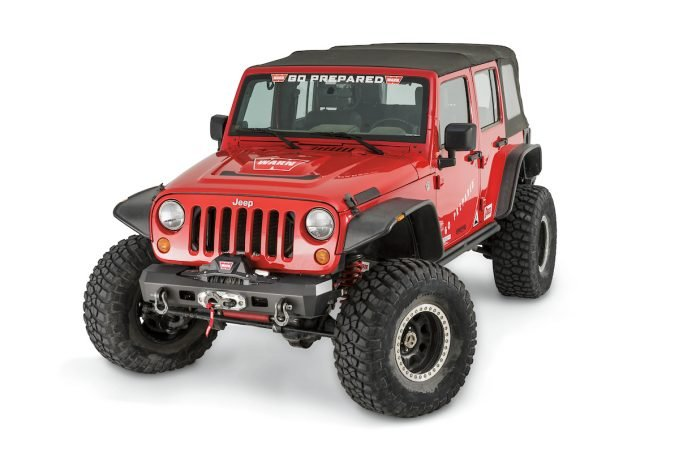 WARN Elite Series bumper for Jeep JK stubby