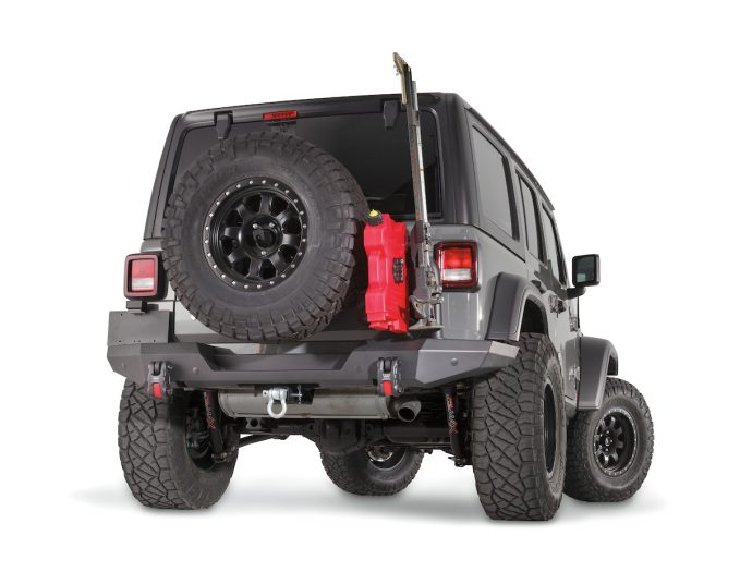 WARN Elite Series rear bumper with tire carrier