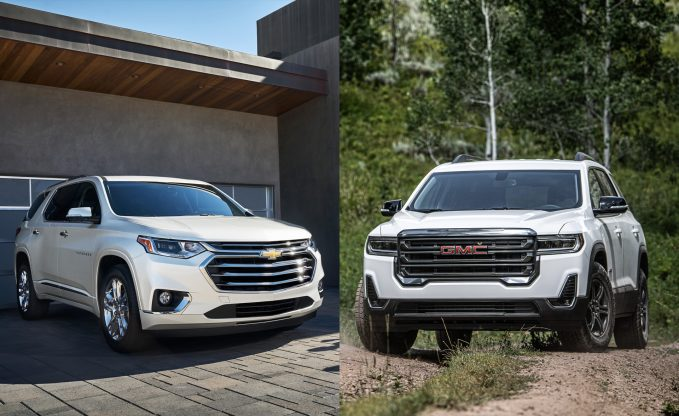 2021 Chevrolet Traverse vs 2021 GMC Acadia