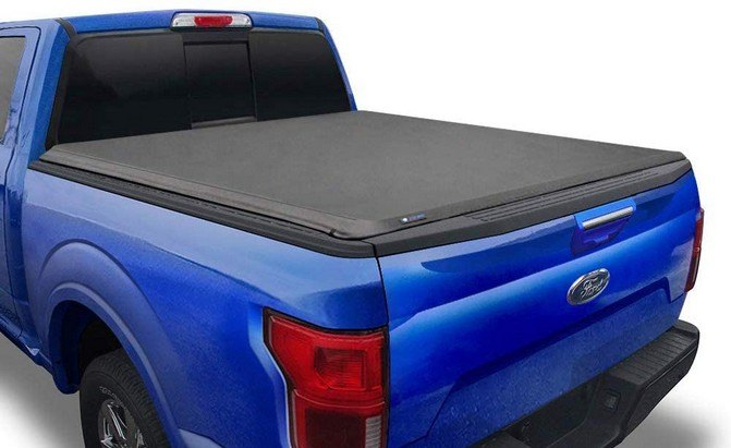 Tyger Auto T1 Soft Roll-Up Tonneau Cover for 2015-2021 Ford F-150
