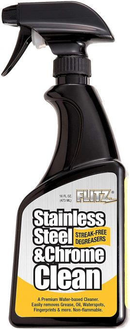 flitz stainless steel and chrome cleaner sp 01506