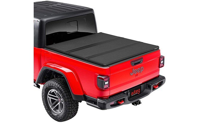 extang solid fold hard truck bed tonneau cover jeep gladiator