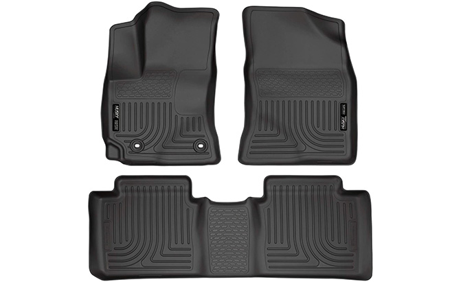 husky liners front and rear floor liners toyota corolla