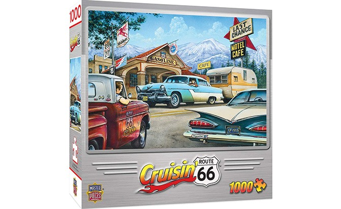 masterpieces cruisin' route 66 1000-piece jigsaw puzzle