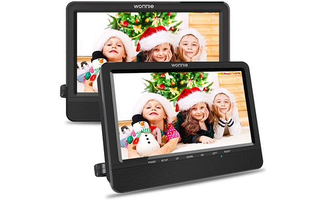 "wonnie 10.5"" car dual dvd player"