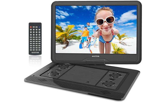 "wonnie 17.9"" portable dvd player"