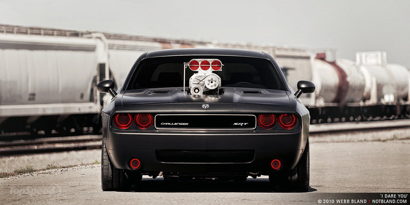 Matte Black Widebody Cult Energy Drink Dodge Challenger Srt8 Headed