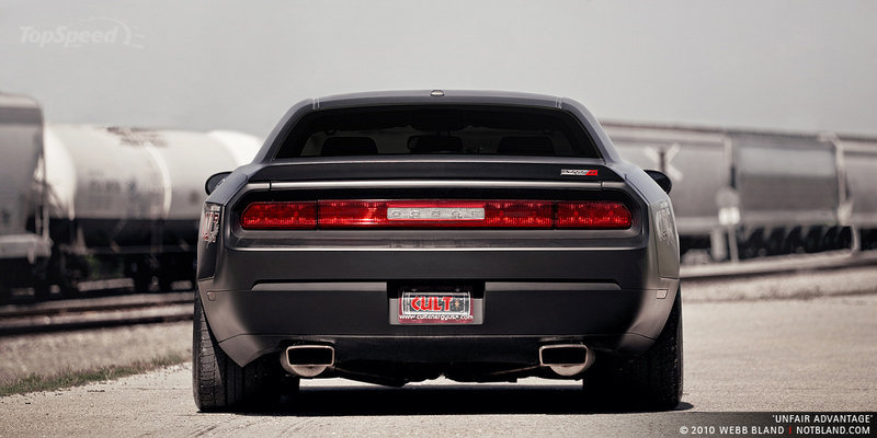 Matte Black Widebody Cult Energy Drink Dodge Challenger
