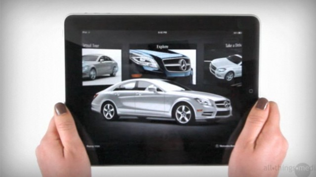 mercedes benz cls class ipad app news. Black Bedroom Furniture Sets. Home Design Ideas