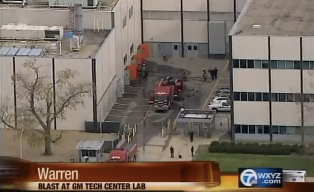 Five Injured In Gm Tech Center Battery Lab Explosion