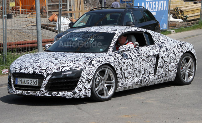 Awesome 2013 Audi R8 Facelift Caught Testing U2013 Spy Photos