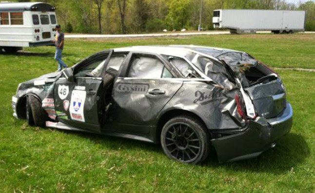 Cadillac Cts V Wagon Wrecked At One Lap Of America