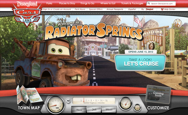 Disneys Cars Land Attraction Gets Website Video