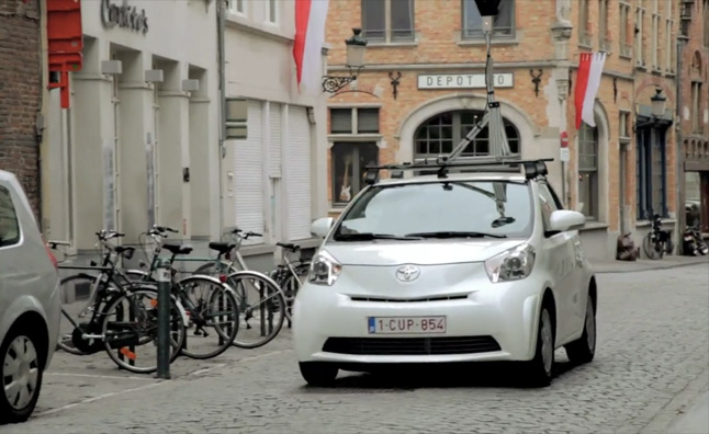 google turns to toyota iq to complete belgium street view video news. Black Bedroom Furniture Sets. Home Design Ideas