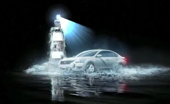 Nissan Holographic Water Show Celebrates Canada Day