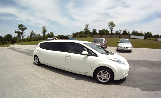 Nissan Leaf Limo Is Eco Friendly Transportation For Many
