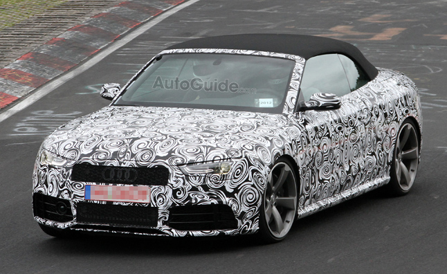 Hanging U0027round The Nurburgring Today, The AutoGuide Photogs Caught Spy  Photos Of The Audi RS5 Cabrio Prototype Taking Laps.