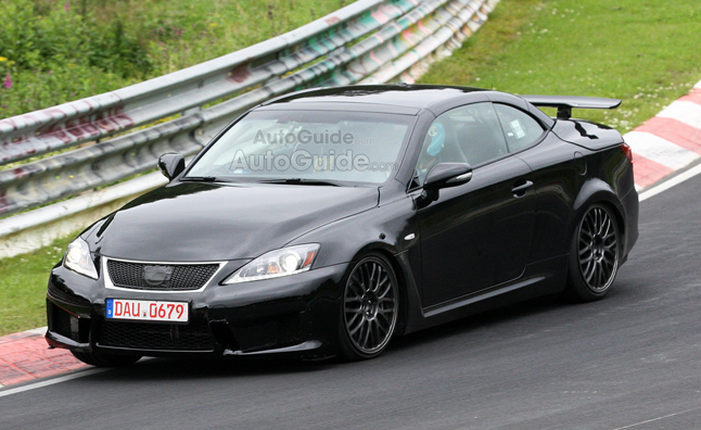 lexus is f convertible revealed in latest spy photos. Black Bedroom Furniture Sets. Home Design Ideas