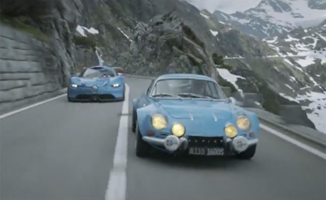 2018 renault alpine a110. exellent 2018 renault alpine a11050 takes a drive with its spiritual predecessor u2013 video to 2018 renault alpine a110