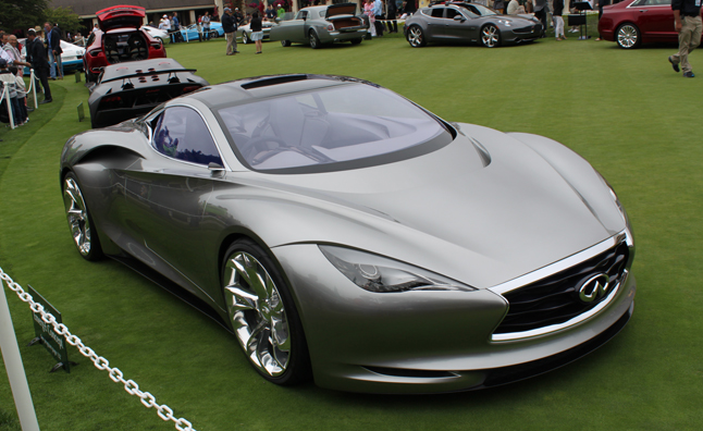 infiniti shocks pebble beach with emerg e le concepts. Black Bedroom Furniture Sets. Home Design Ideas