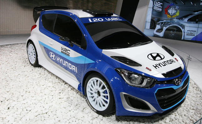 After The Announcement That They Are Pulling Out Of Motor Sport Here In  North America, Hyundai Has Just Debuted A New WRC Race Car At The 2012  Paris Motor ...