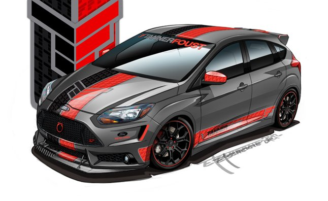 Custom Ford Focus Sts Previewed Ahead Of Sema 187 Autoguide