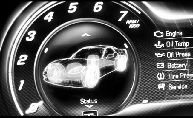 Digital Car Gauges Cluster : Chevy corvette teased digital gauges revealed