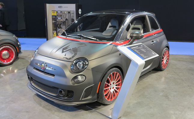 custom fiat 500s video first look 2012 sema show news. Black Bedroom Furniture Sets. Home Design Ideas