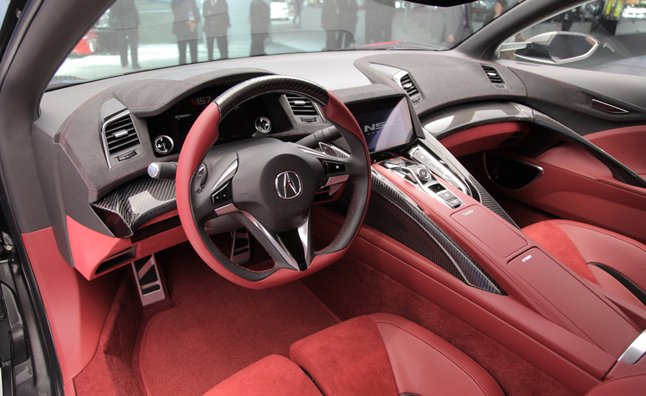 Acura NSX Interior Revealed at 2013 Detroit Auto Show ...