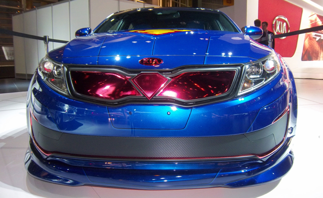 Elegant ... Or At Least This Weeku0027s Chicago Auto Show From Boredom, Kiau0027s  Superman Inspired Optima Hybrid Is An Interesting Concept Car To Say The  Least.