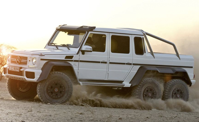 mercedes g63 amg 6x6 is a six wheeling off roader videos news. Black Bedroom Furniture Sets. Home Design Ideas