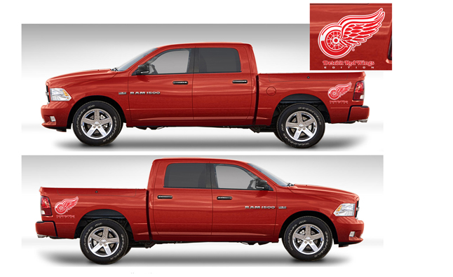 Detroit Red Wings Themed Ram Trucks Continue 187 Autoguide
