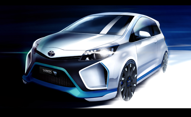 toyota yaris hybrid r revealed previewing future sports car tech