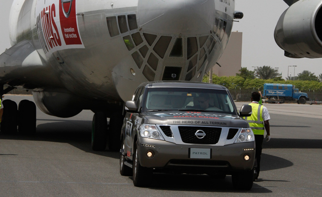 nissan patrol sets guinness world record  towing besting toyota tundras spaceshuttle pull