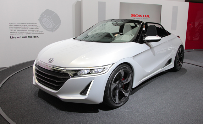 Honda Pulled The Wraps Off Of A New Small Car At 2013 Tokyo Auto Show S660 Concept