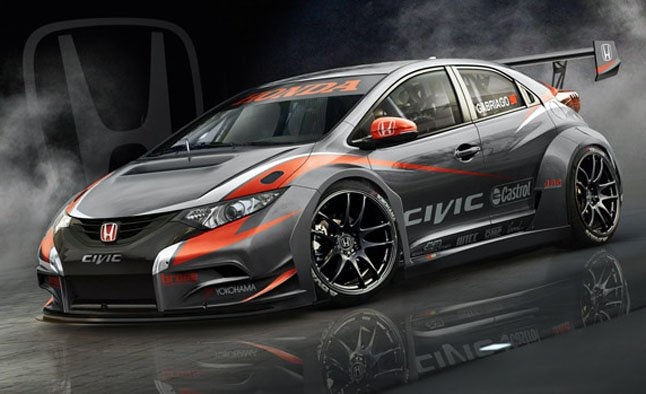 2014 honda civic wtcc racer teased news. Black Bedroom Furniture Sets. Home Design Ideas