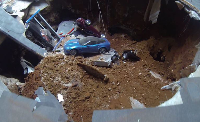 Used Cars Bowling Green Ky >> Watch Corvettes get Swallowed by a Massive Sinkhole in Corvette Museum » AutoGuide.com News