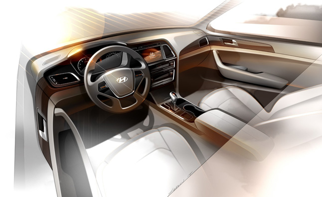 2015 hyundai sonata interior teased news - 2015 hyundai sonata interior pictures ...